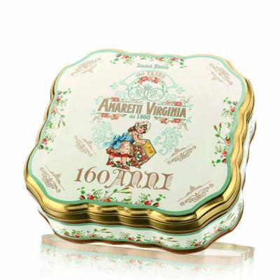 Makaroniki migdałowe Amaretti Virginia w ozdobnym blaszane pudełko Rocznica 160 lat 300 g