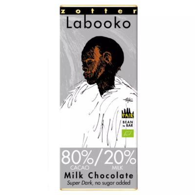 Czekolada mleczna Zotter Labooko 80% kakao 2 x 32,5 g