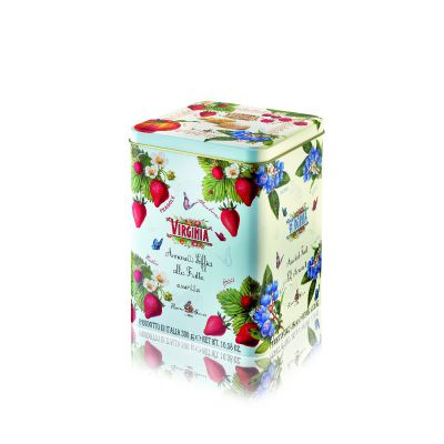 Makaroniki owocowe Amaretti Virginia blaszane pudełko 300 g