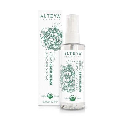 Ekologiczny hydrolat z białej róży (Alba) Spray-PET 100 ml Spray