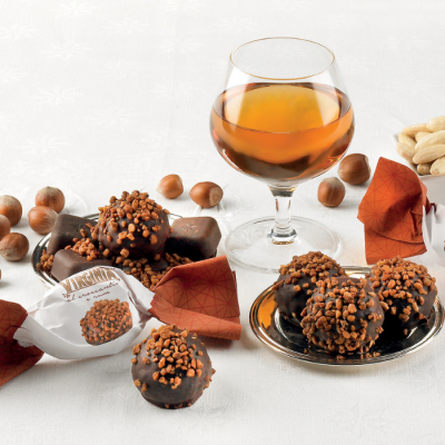 Ciastka Amaretti Virginia miękkie, rum i orzechy laskowe 24 g