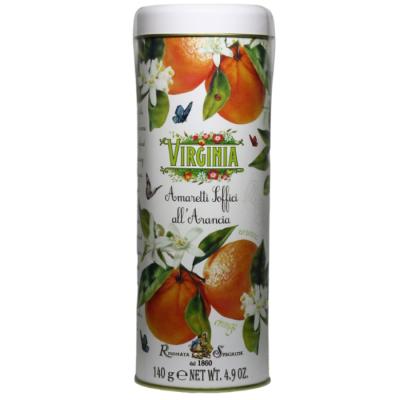 Ciastka Amaretti Virginia miękkie pomarańczowe puszka 140 g