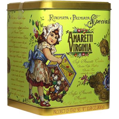 Ciastka Amaretti Virginia miękkie migdałowe - różne rodzaje - puszka 300 g