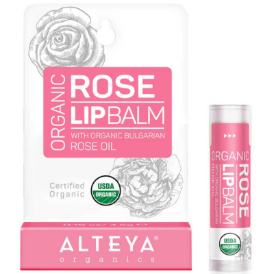 Ekologiczny balsam do ust  z olejkiem Róży Bułgarskiej