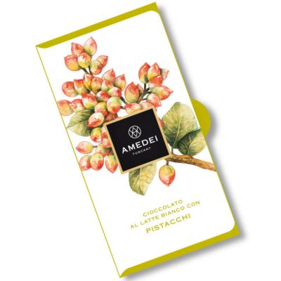 Czekolada biała Amedei - z pistacjami 50 g