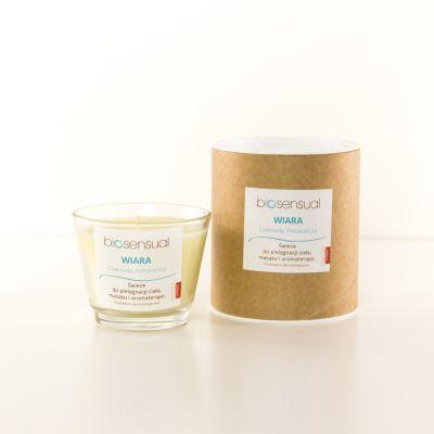 Świeca zapachowa Biosensual Wiara -100 ml, 200 ml