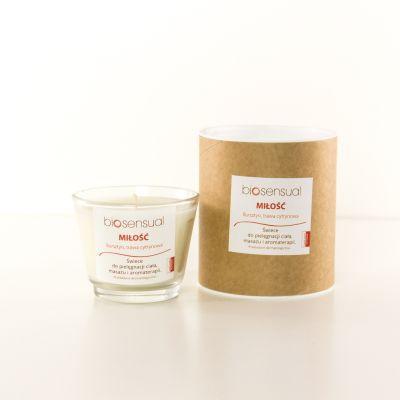 Świeca zapachowa Biosensual Miłość - 100 ml, 200 ml