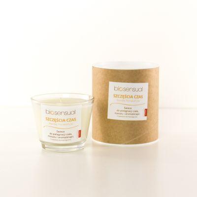 Świeca zapachowa Biosensual Szczęścia Czas - 100 ml, 200 ml